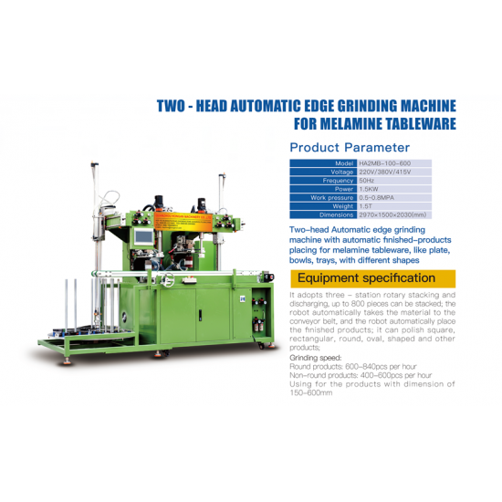 Full Auto Melamine Dinnerware Edge Auto Grinding Machine